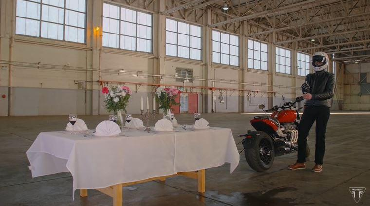 Triumph Rocket 3 tablecloth