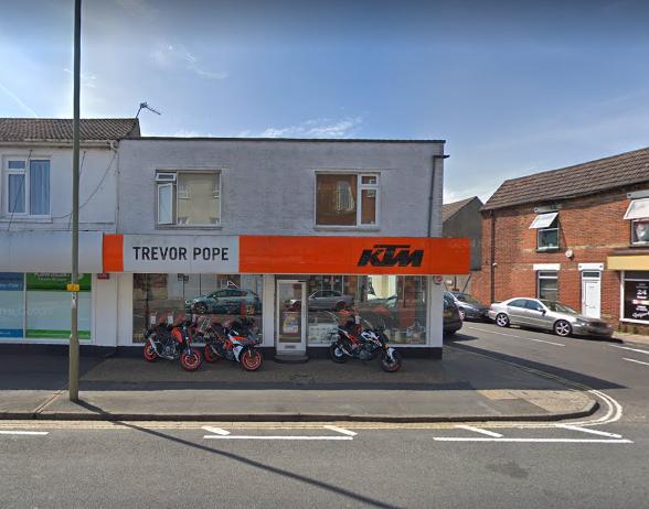 KTM dealership Trevor Pope Motorcycles Gosport