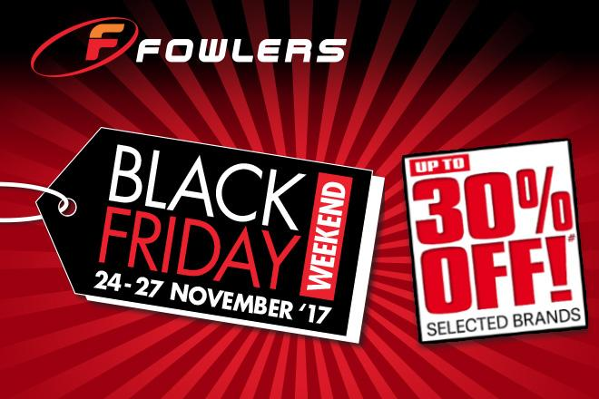 30% off helmets, clothing and accessories this Black Friday weekend at Fowlers Motorcycles