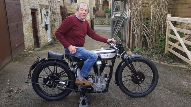 Ex-RAF pilot sells Norton motorcycles to save his church