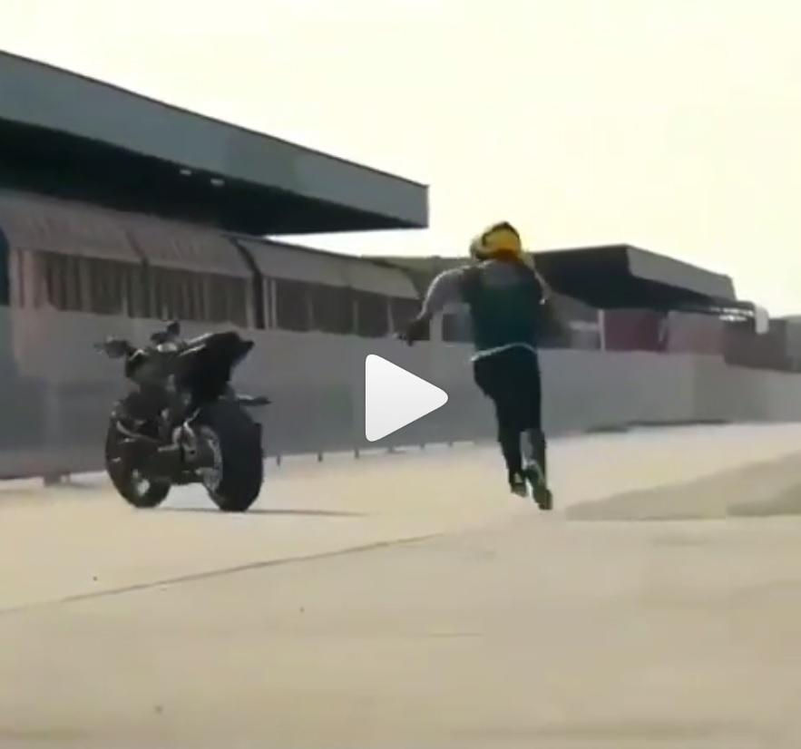 When your bike's a better rider than you are