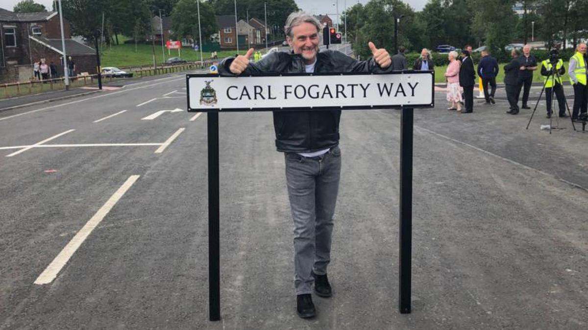 Foggy opens a road named in his honour