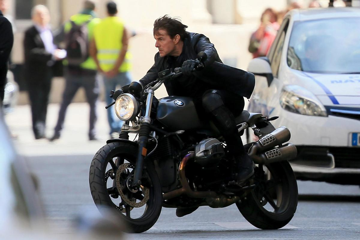Tom Cruises on BMW RnineT Scrambler in new Mission: Imp