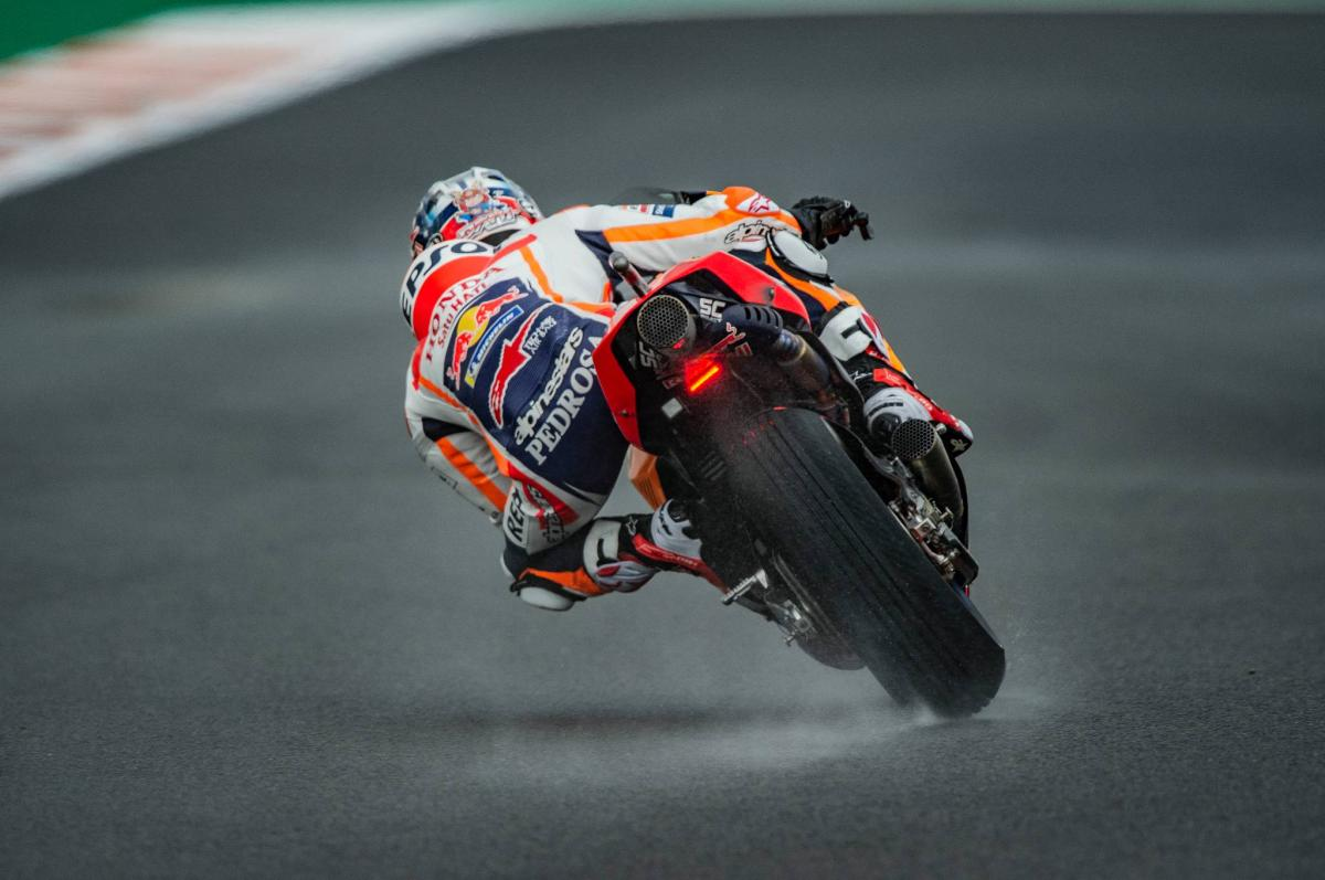 Pedrosa finds wet rhythm ahead of final MotoGP