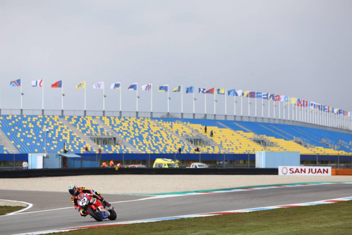 Assen World Superbike race one delayed by snow