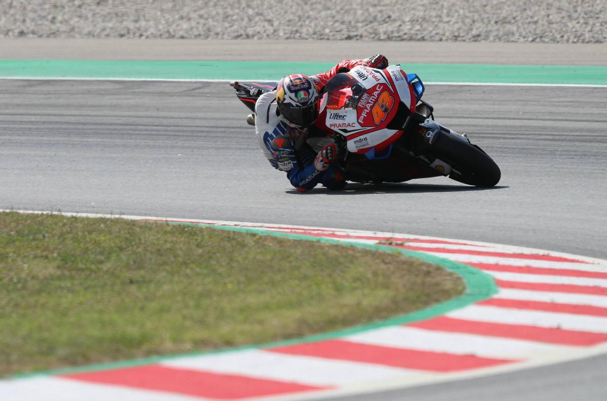 Miller: Rear brake risky on slippery, scary track