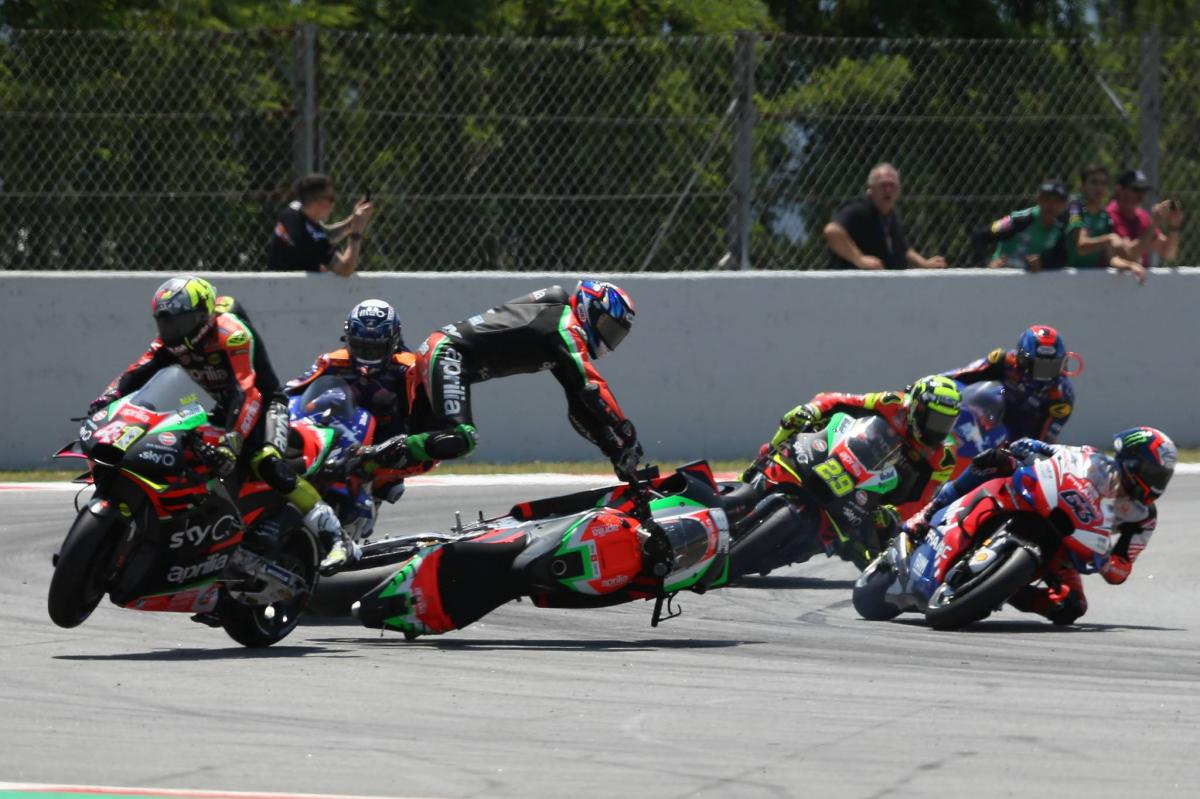 Smith punished for crash that injures team-mate Espargaro
