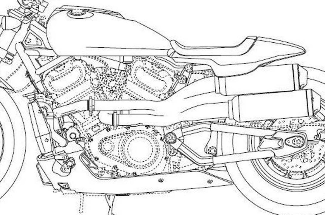 Harley-Davidson patent drawings reveal bike design details