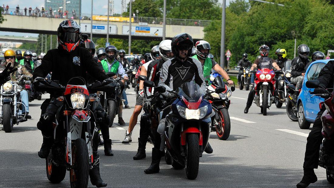 motorcycle protest