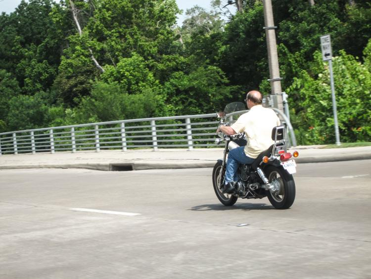 motorcycle without helmet