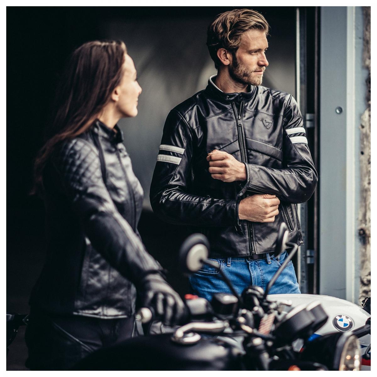 Revit Prometheus leather motorcycle Jacket