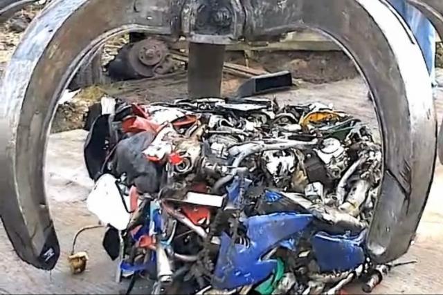 scrap motorcycles