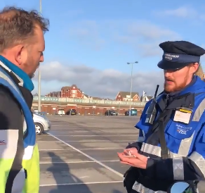 Litter warden tickets biker for accidentally dropping his cigarettes