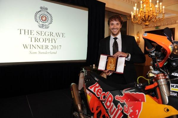 Sam Sunderland awarded Segrave Trophy