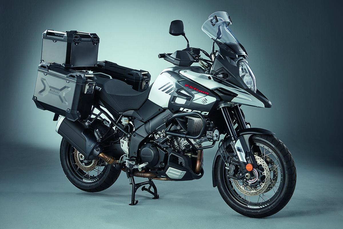 Ally luggage set for Suzuki's V-Strom