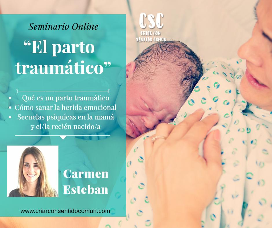 """Sana las heridas emocionales y cura las secuelas del parto traumático con el Seminario Online """"El parto traumático"""""""
