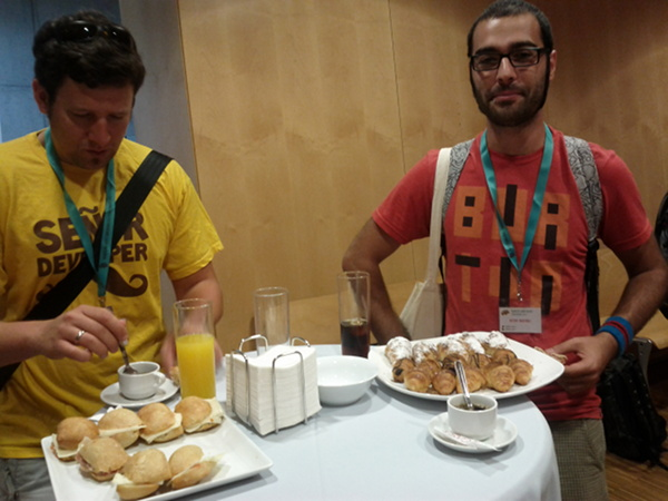 A delicious breakfast for the BaRuCo attendants