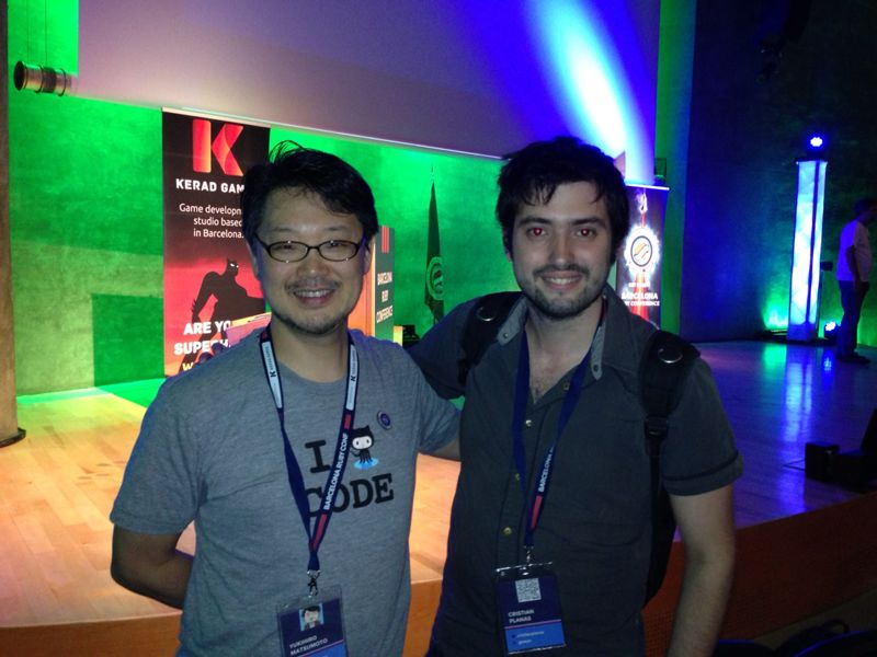 A picture with Matz at the BaRuCo 2013