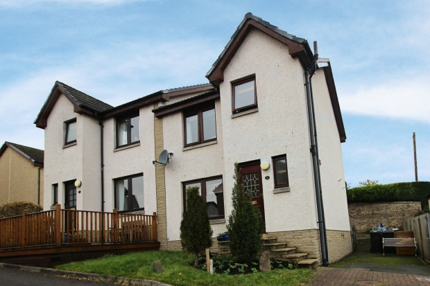 3 Bedrooms Semi Detached House for sale in Knowepark Gardens, Galashiels, Selkirkshire, TD1 1TA