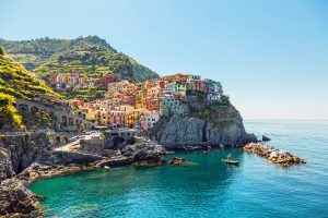 Manarola. Coast of the Cinque Terre in Italy.