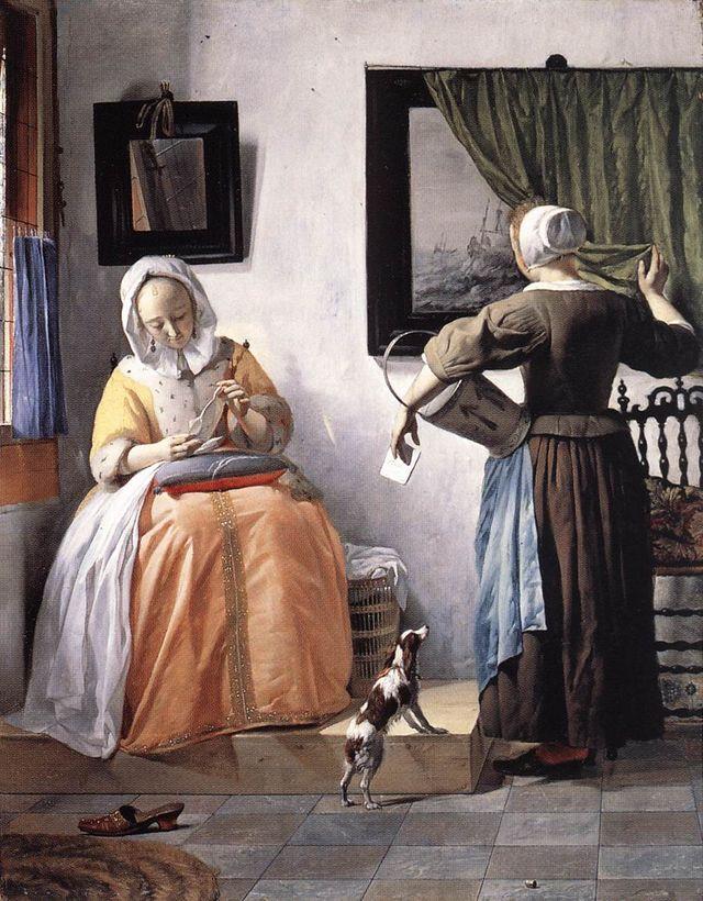 Jeune femme lisant une lettre