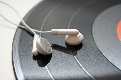 Vinyl et écouteurs
