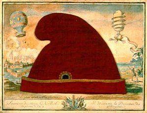 La liberté entre les deux rives de l'Atlantique. Collage 1794. Musée de la Révolution française, Vizille
