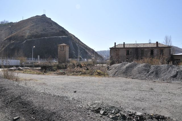 Les anciennes traces d'exploitation minière à Decazeville