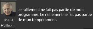 Tweet de Dominique de Villepin