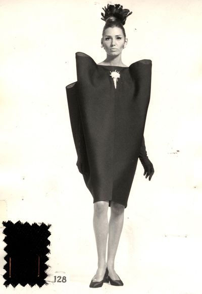 Balenciaga. Robe du soir n°128 A/H 1967