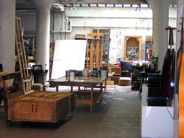 L'atelier de peinture d'Arman