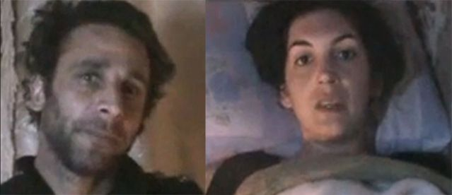 William Daniels et Edith Bouvier sur la vidéo envoyée depuis Homs