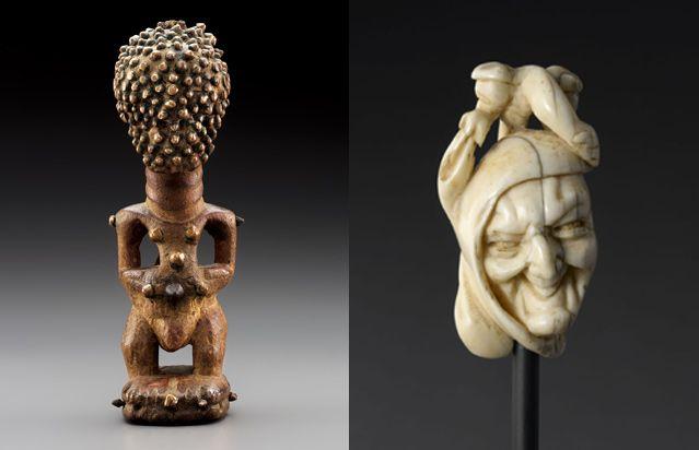 Nkisi, statue magique Songhye - Collection privée / Tête de Marotte
