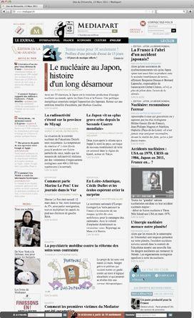 Page d'accueil du site Mediapart