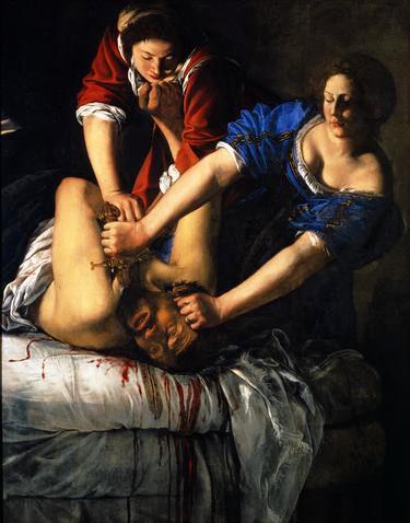 Artemisia Gentileschi : Judith et Olopherne