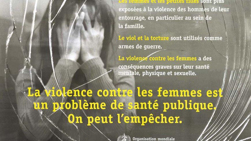 Violences faites aux femmes: affiche de l'OMS