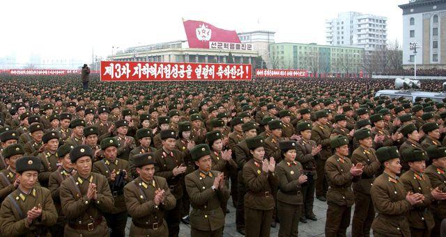 Rassemblement après le troisième essai nucléaire nord-coréen