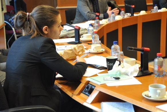 Amelia en réunion au parlement européen