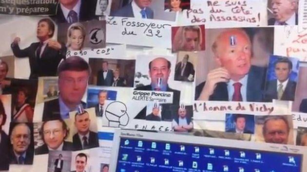 La découverte de ce mur de photos de personnalités politiques a provoqué des salves de réactions.