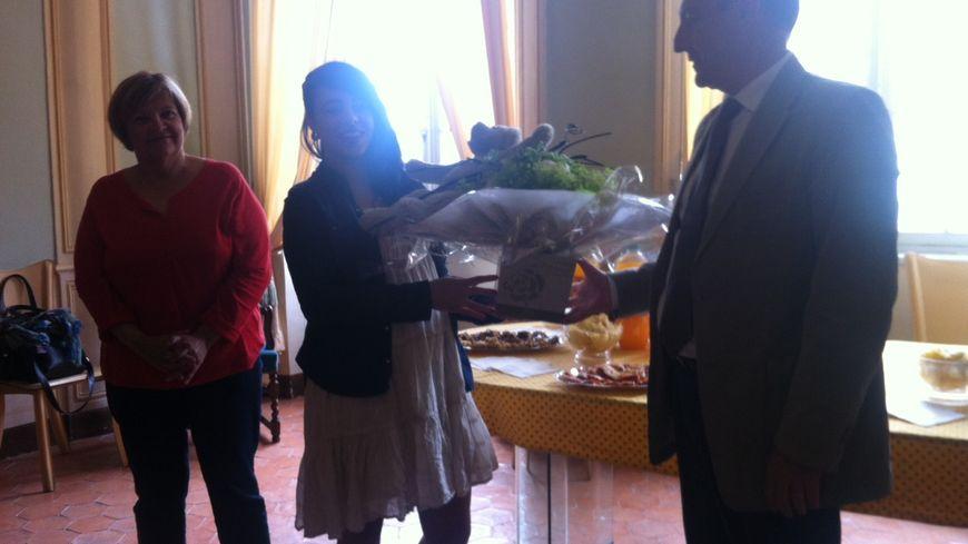 Cécilia de The Voice, reçue en mairie de St-Paul Trois Châteaux
