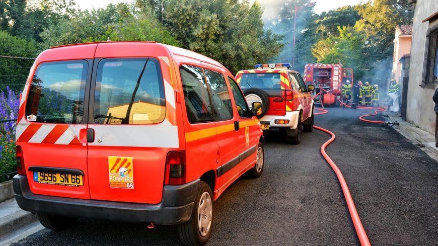 Intervention des pompiers du SDIS 66