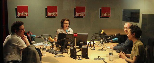 En studio avec Michael Gunthert, Brigitte Patient, André Gunthert et VuThéara Kham