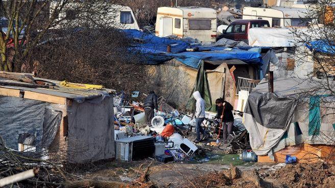 Un camp de Roms situé au sud de Lille