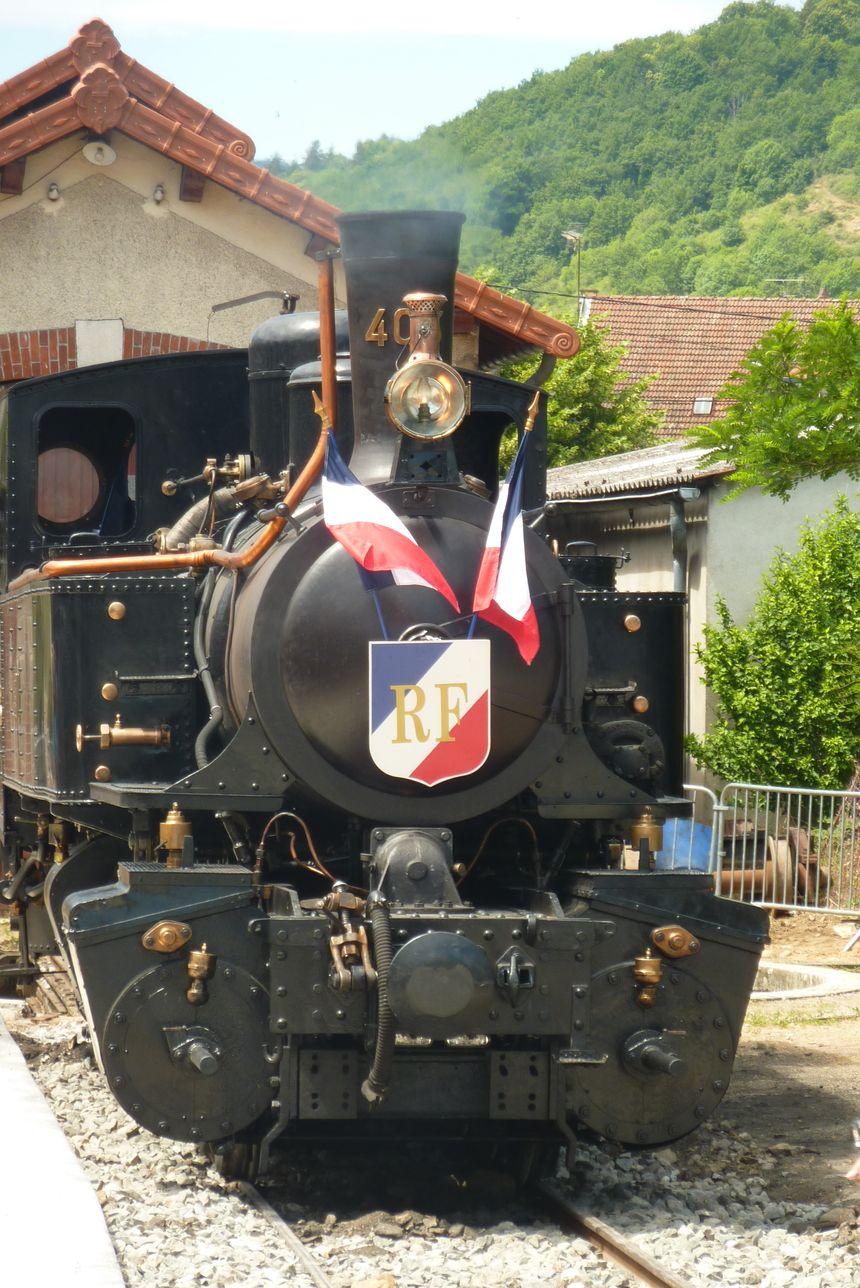 La locomotive du Mastrou à Lamastre en Ardèche. - Stéphane Milhomme - Radio France