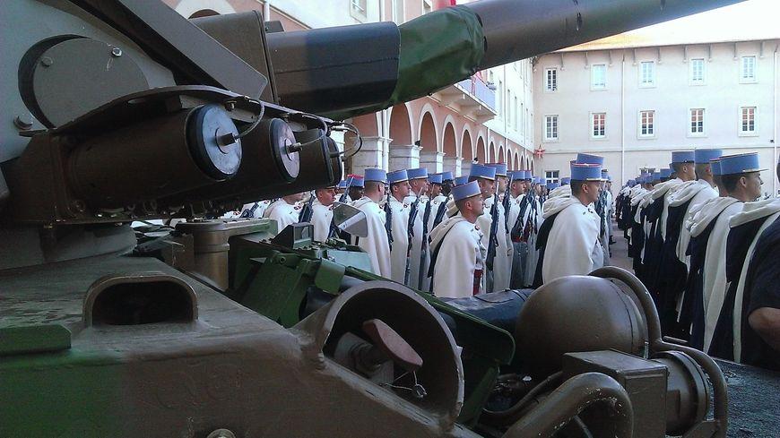 Les Spahis de Valence en pleine cérémonie.
