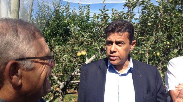 Xavier Beulin le patron de la FNSEA en visite en Dordogne