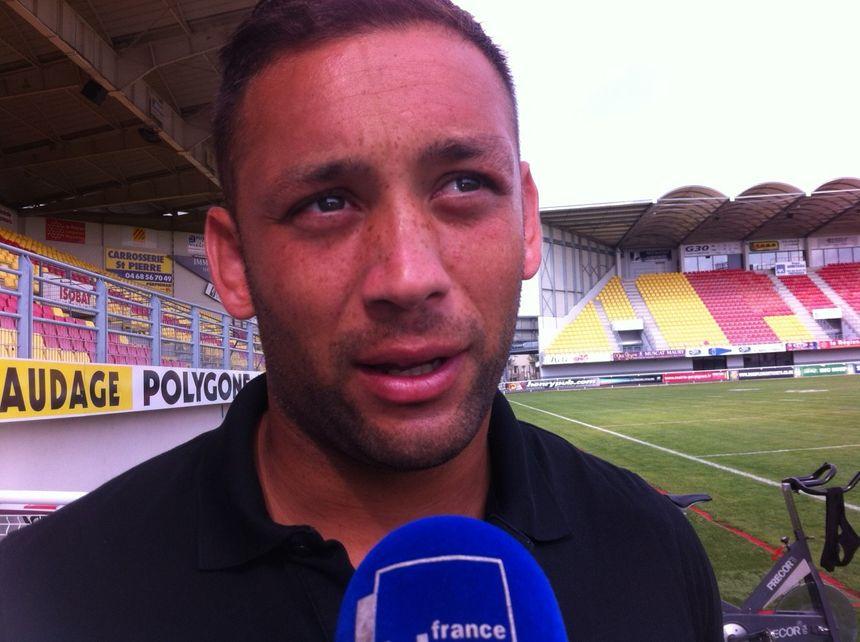 Olivier Elima, joueur des Dragons catalans - Radio France