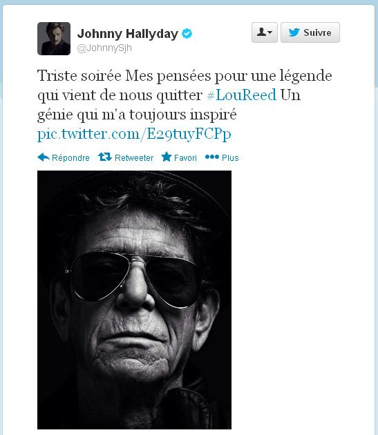 L'hommage de Johnny Hallyday