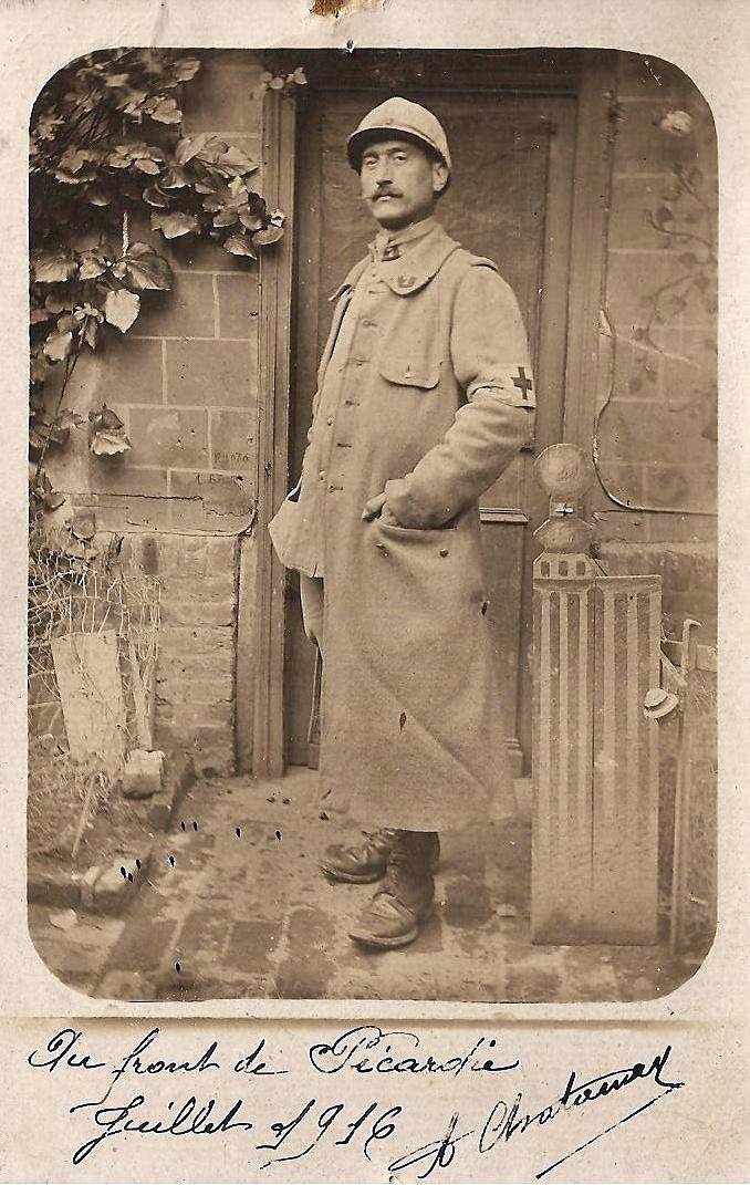 Antoine Chatanay sur le front de Picardie en 1916, un soldat originaire de Fontaine Saint Martin pendant la 1ère guerre mondiale