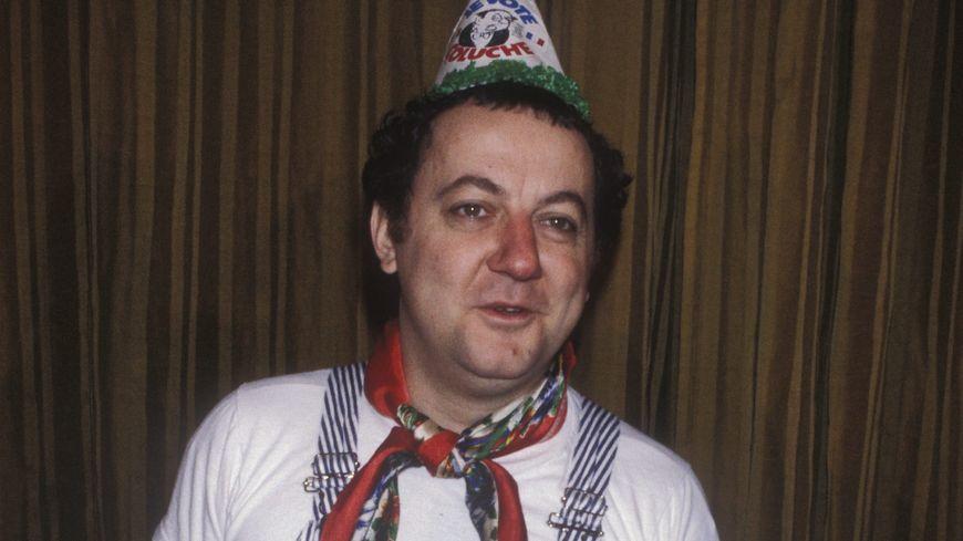 Coluche à Paris en mai 1981.